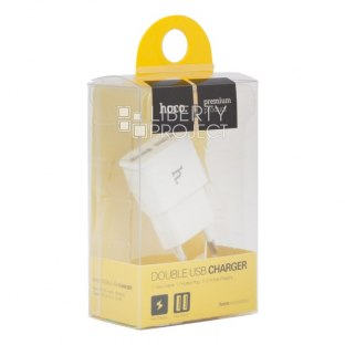СЗУ HOCO UH202 Smart Charger 2USB (EU) 2,4A (белое)